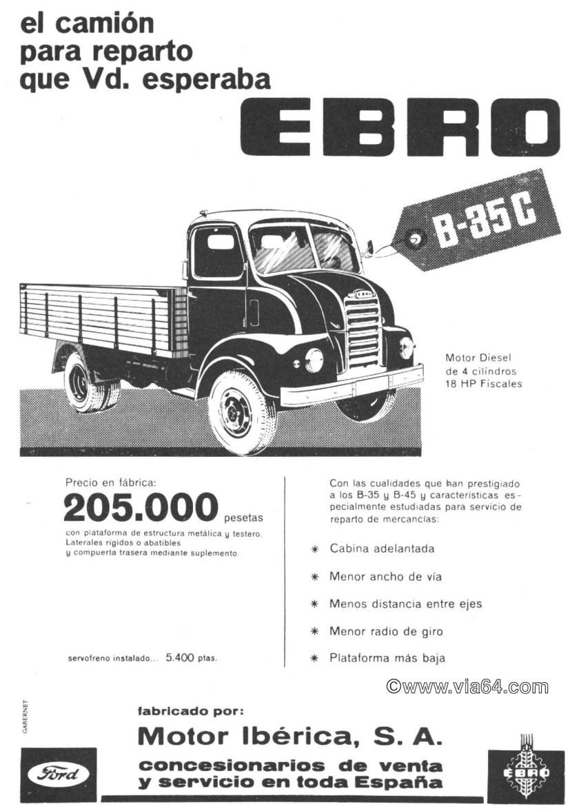 1963 Ebro BC-35 publicidad