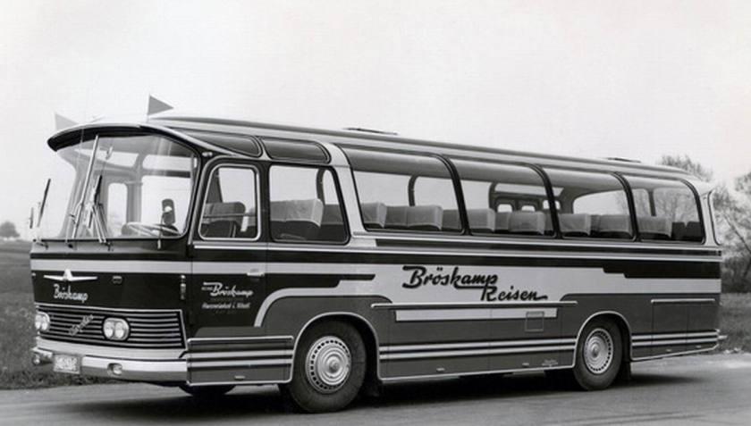 1966 Auwärter Neoplan Busse aus Stuttgart Typ Hamburg NH 10 L Bröskamp