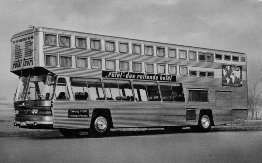 1966 Auwärter Neoplan ROTEL auf Typ Hamburg Basis - das fertiggestellte rollende Hotel