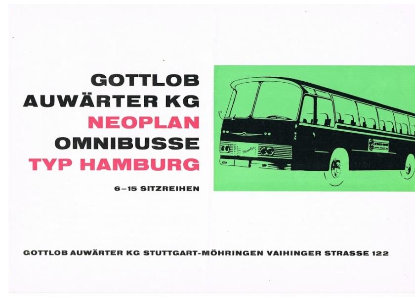 1967 NEOPLAN Hamburg NH8, NH9, NH12, NH14