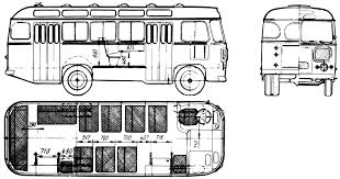 1968 Other PAZ-672 Bus blueprint