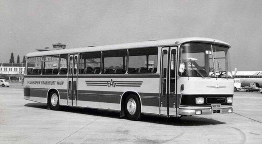 1969 Auwärter Neoplan Busse aus Stuttgart Typ Hamburg NH 15 V Flughafen Frankfurt