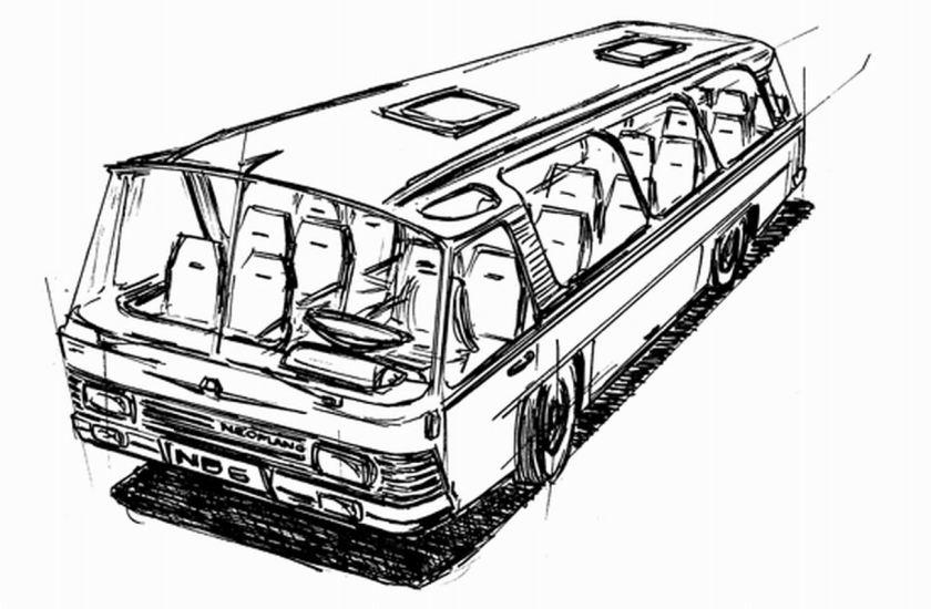 1969 Auwärter Neoplan ND 6 Typ Hamburg Skizze von Bob Lee 1969 Tekening