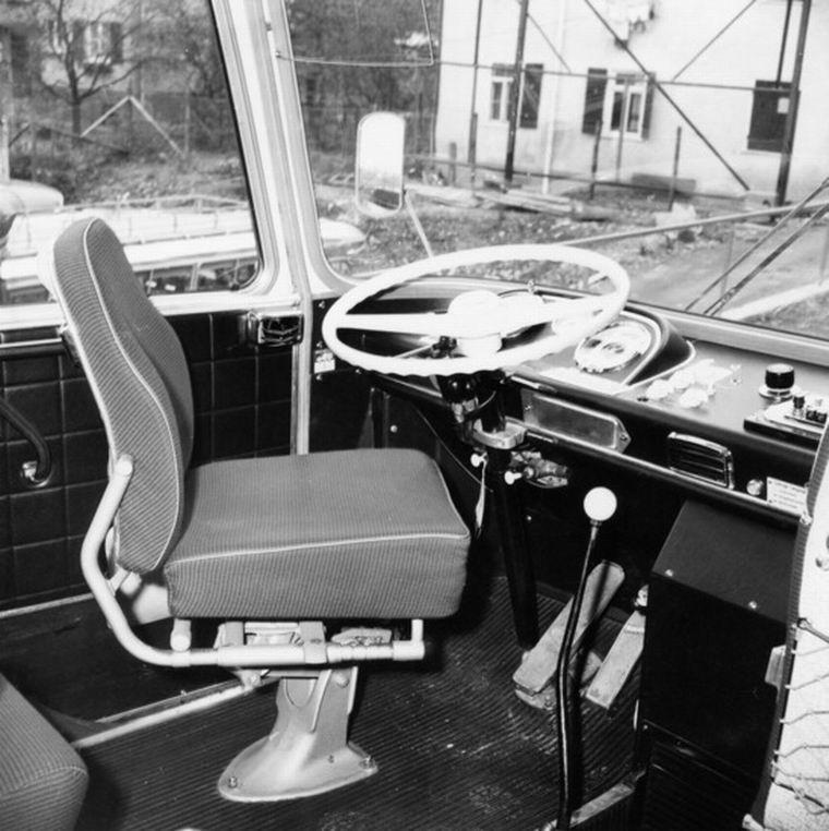 1970 Auwärter Neoplan Typ Hamburg - Arbeitsplatz des Fahrers