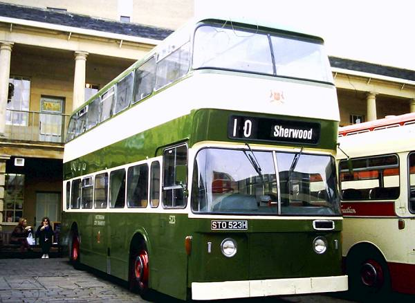 1970 Leyland Atlantean PDR1A-1 with Northern Counties 77 seat dual door bodywork