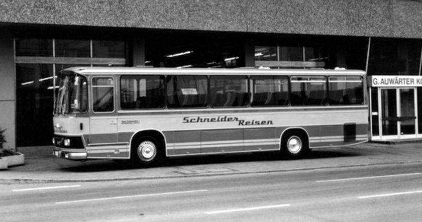 1971 Auwärter Neoplan NH 12 K - ein kurzer Kombibus der Typ Hamburg Baureihe für SCHNEIDER