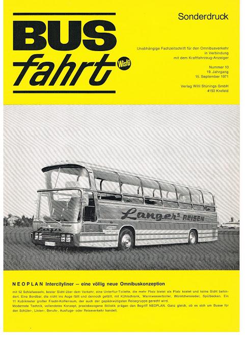 1971 NEOPLAN Intercityliner Busfahrt 150971