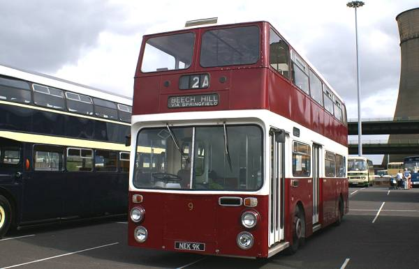 1972 Leyland Atlantean AN68-2R 9, NEK9K, carries Northern Counties dual door bodywork