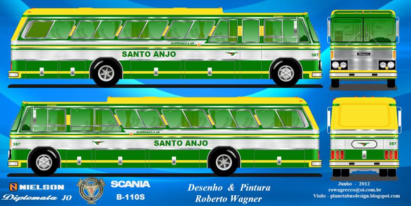 1977Viação Santo Anjo  -  Nielson Diplomata JO ScaniaB110S