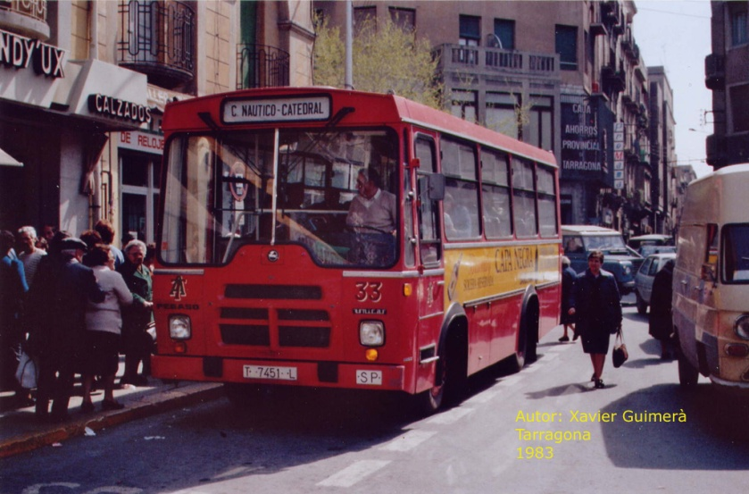 1983 PEGASO UNICAR La Cirereta when new working for Travé.