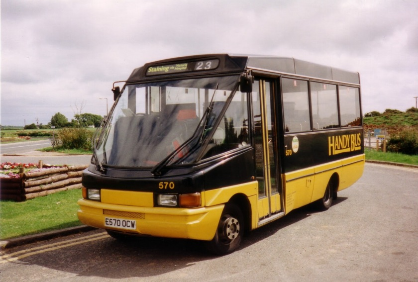 1998 Optare City Pacer 570 sits