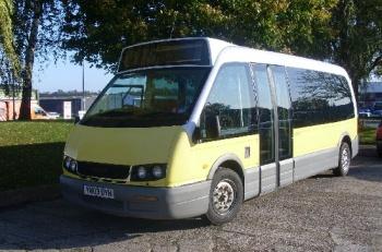 2003 Optare Alero, was a 7.2 metre, 16 seat low-floor minibus