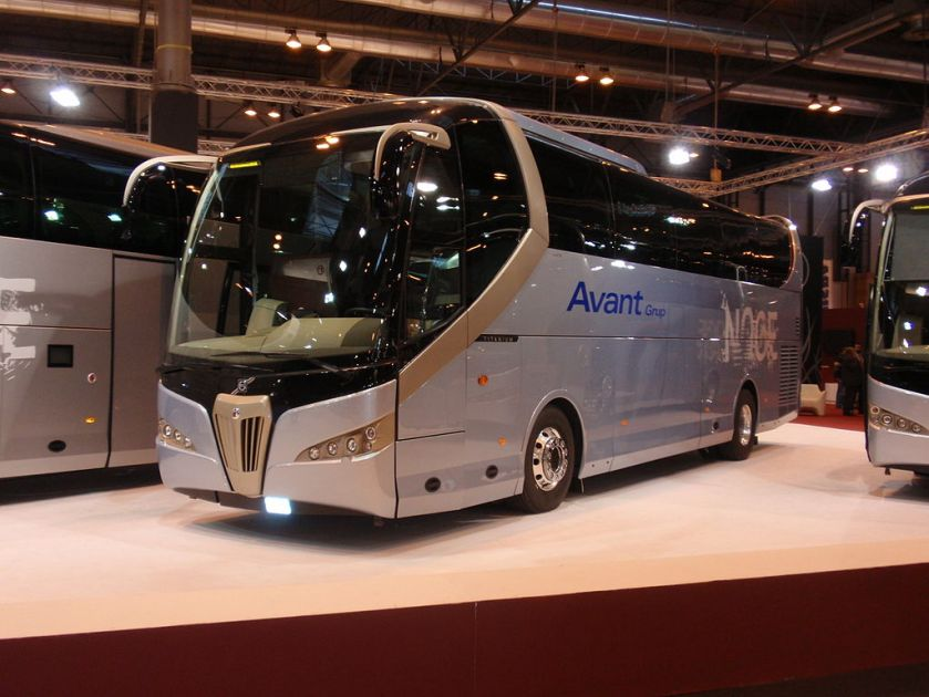 2008 Noge Titanium coach built on a Volvo chassis at the 2008 FIAA (International Bus and Coach Fair) in Madrid