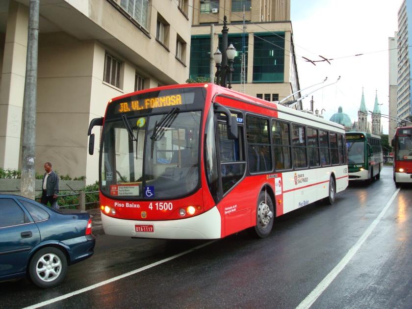 2009 Busscar Trolleybus Low Floor 4 1500 Sao Paulo, Brazil