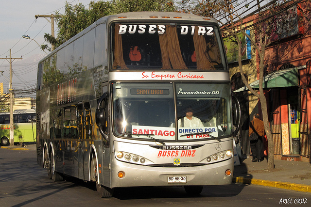 bdhb30 - buses díaz - terminal santiago - panorâmico dd