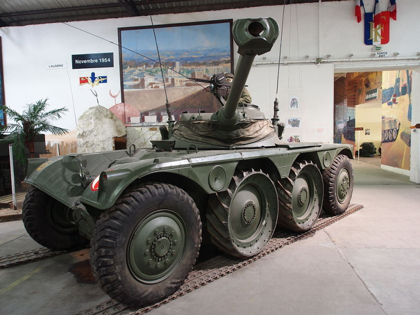 26 Panhard EBR in the Musée des Blindés, France, pic-4