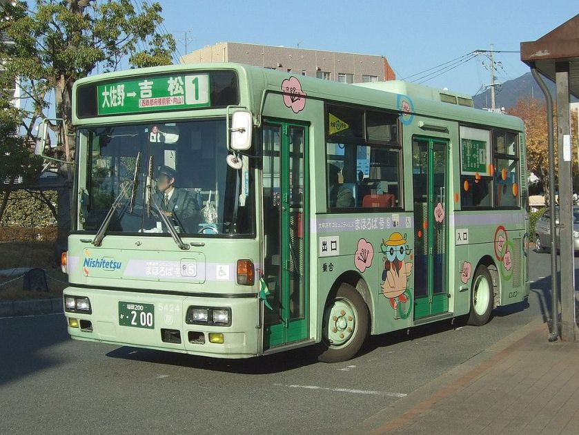 32 Nissan Diesel RN Dazaifu City community bus01