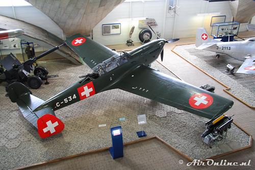 C-534 EKW C-3603 met Hispano-Suiza motor, korte neus en zonder 3e staartvlak
