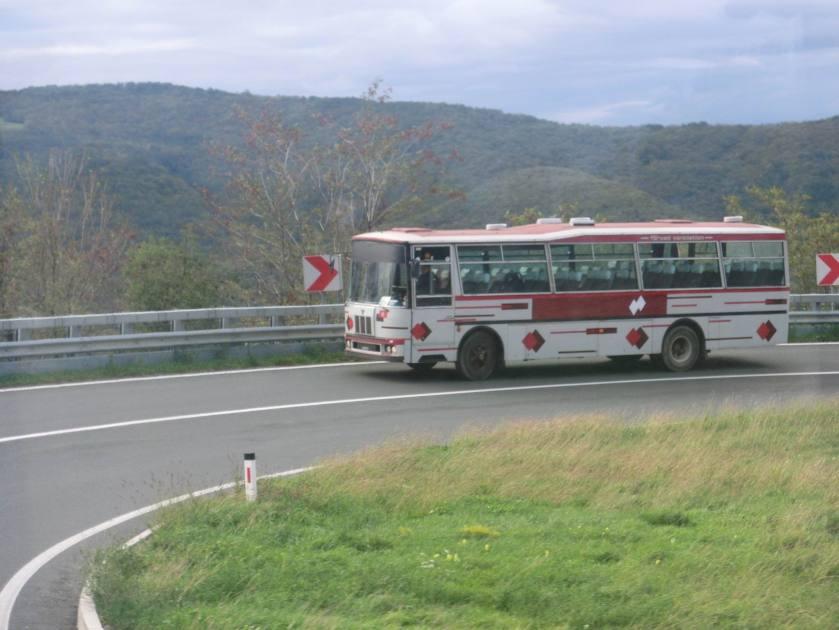 Fiat 308L Padane Gran Turismo climbing in Croatia
