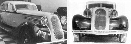 Hispano Argentina sedan con Motor Criollo D1 de cuatro cilindros y 75 Hp