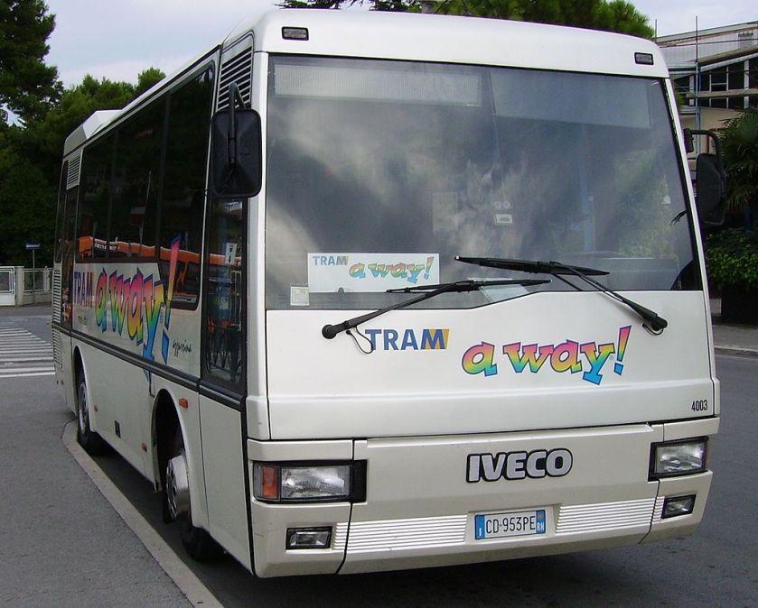 Iveco 315.08.18 Orlandi Poker in versione GT della Tram Servizi Rimini