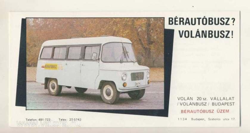 minibusrentaloftheVolnbuszcompany