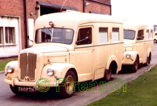 Morris Commercial ambulances