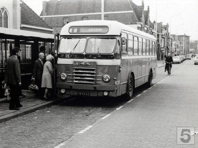 NACO Alkmaar 6705, Lijn KA, Kanaalkade Alkmaar (1972) DAF
