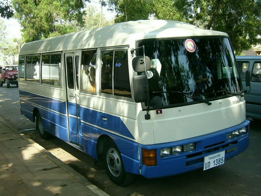 Nissan Civilian 3 bus-Laos