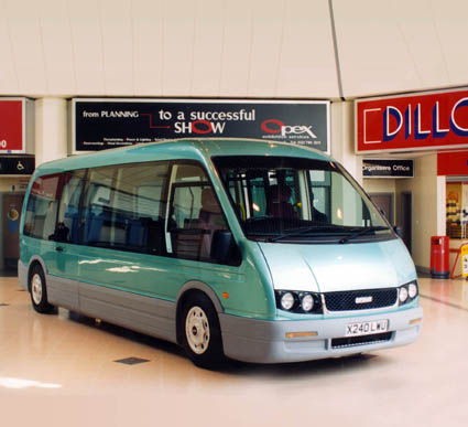 Optare Alero, launched in 2000 was a 7.2 metre, 16 seat low-floor minibus