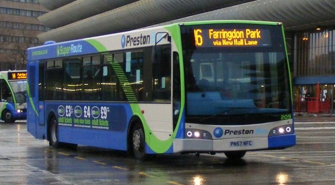 Preston Bus 209 PN57NFC Scania / East Lancs Esteem in Preston Bus Station