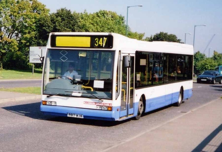 Optare Excel A Stansted Transit R817WJA
