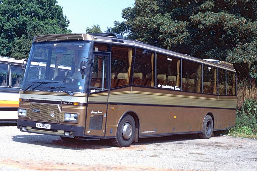 Padane bodied Leyland Tiger is seen here with its Irish identity at North Walsham