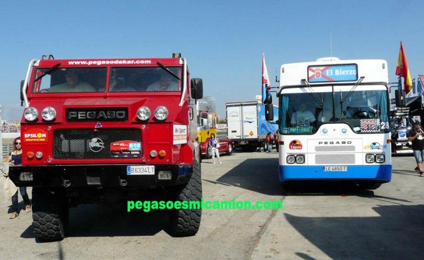 Pegaso Dakar Rally en Pegaso bus