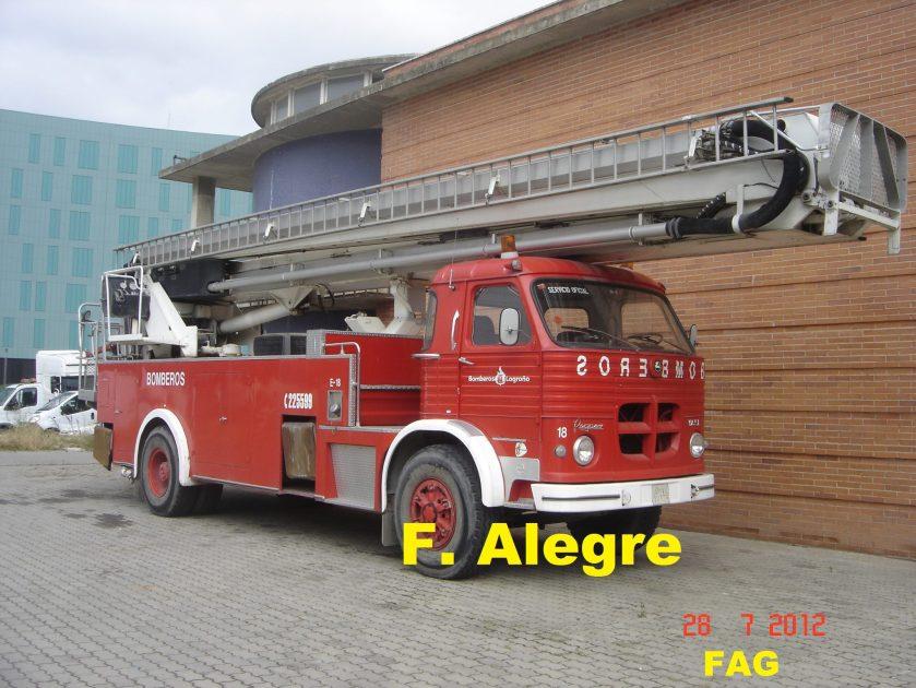 Pegaso Europa de los bomberos de Logroño que sique en activo