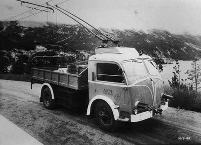 Pegaso trolley truck at the Valtellina Dam Project