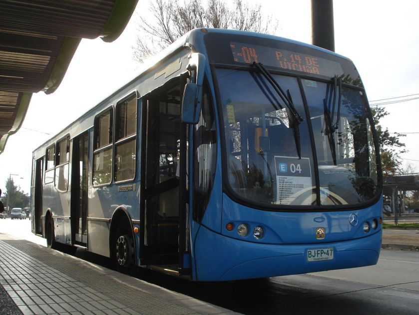 Urbanuss Pluss operating in Santiago under Transantiago project