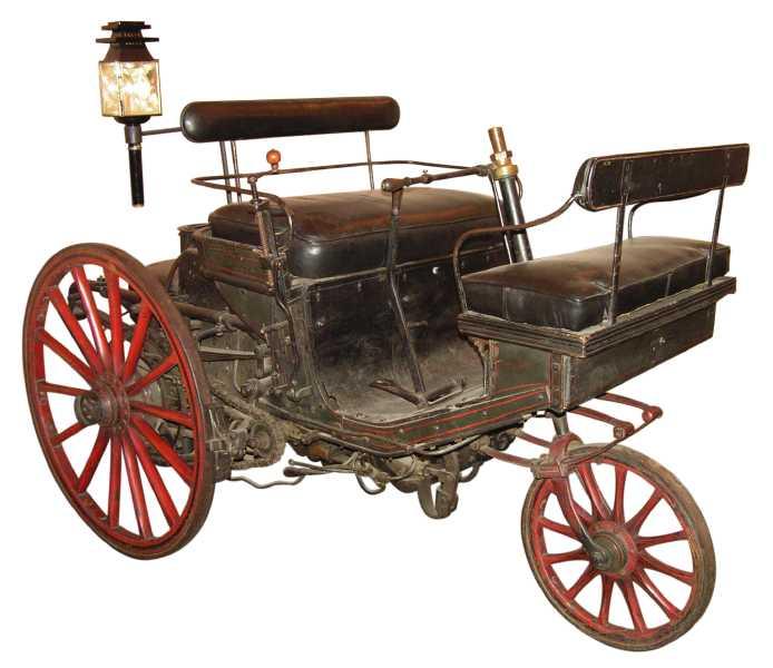 1899 Peugeot Type 1, de eerste en laatste stoomaangedreven Peugeot TricycleSerpollet