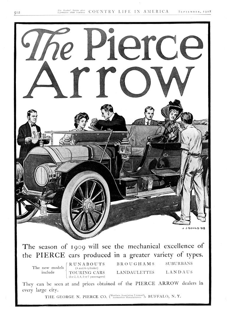 Peugeot 360 176 view rcz gt line rhd -  1909 Pierce Arrow Ad 09