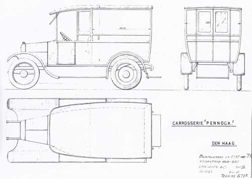 1920 Pennock-1920-Fiat-Bestelwagen