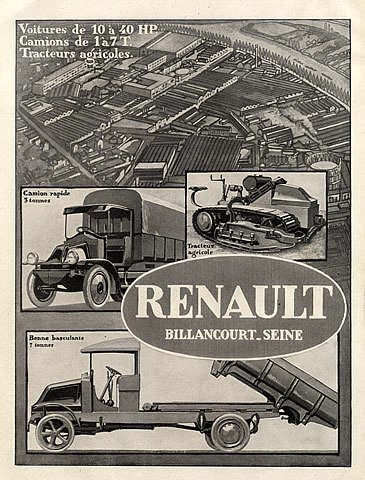 1920 renault-cars-factory-truck-tractor