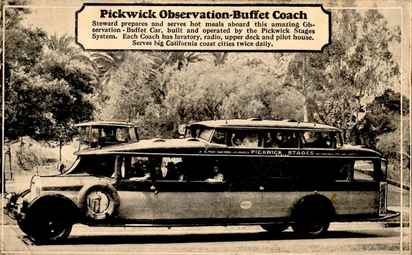 1927 Pickwick Observation-Buffet Coach