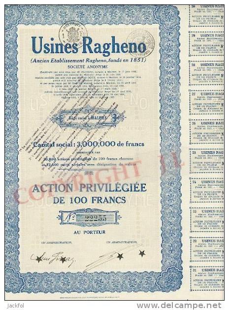 1927 Usines Ragheno € 7,-