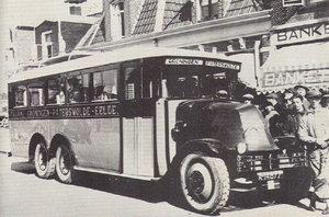 1928 Renault 3-asser van de Trammij. Groningen-Paterswolde-Eelde