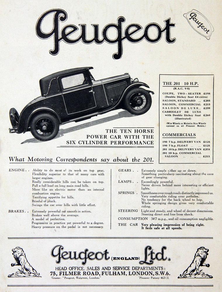 1930 Peugeot