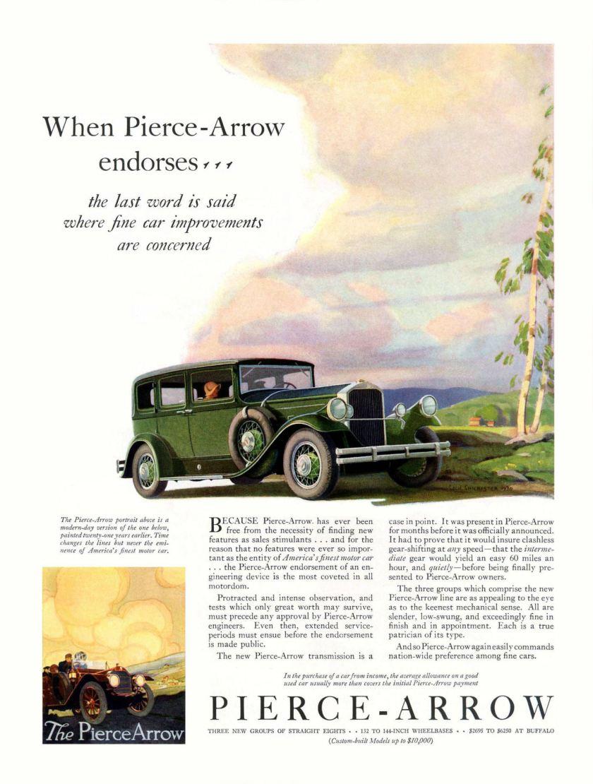 Peugeot 360 176 view rcz gt line rhd -  1930 Pierce Arrow Ad 01