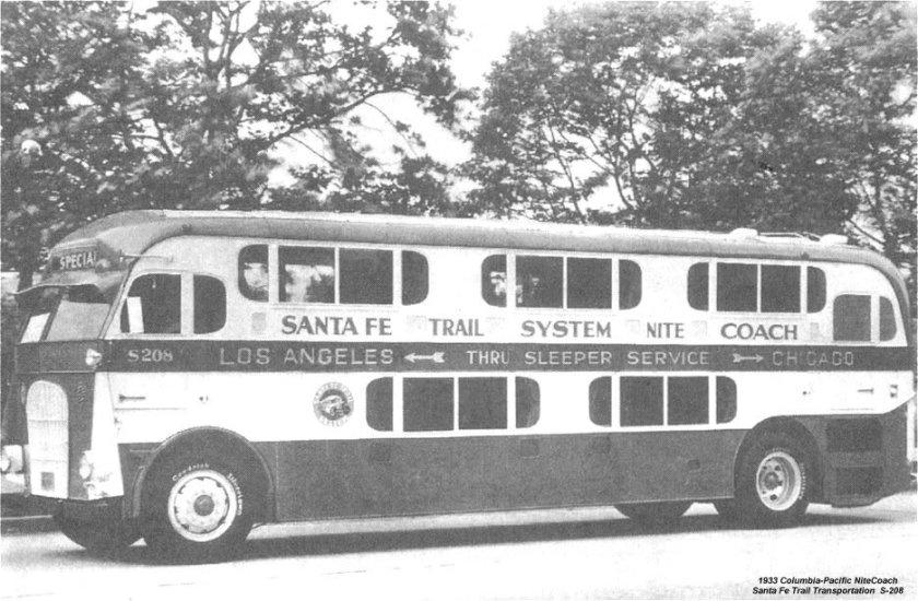 1933 Pickwick Nite Coach PICKWICK S208 SANTAFE