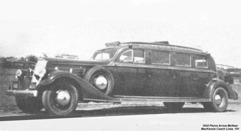 1934 Pierce Arrow-Mcnear MacKenzie Coach Lines 101