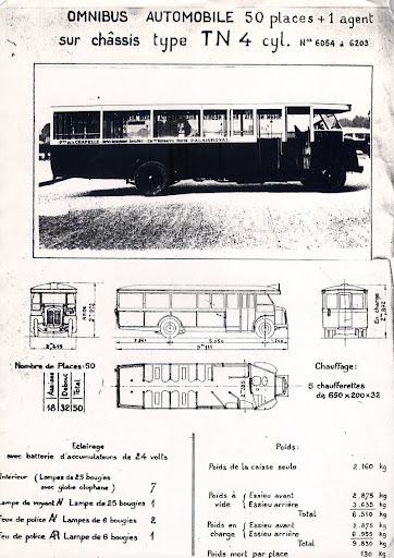 1934 Renault TN4 6054-6203 tekening