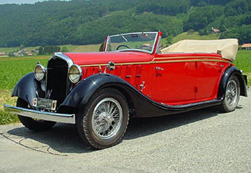 1934 Worblaufen Alfa Romeo 6C 2300 Cabriolet a